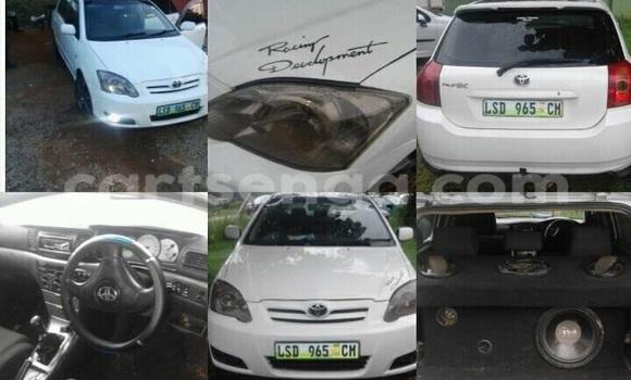Buy Used Toyota Runx White Car in Manzini in Swaziland