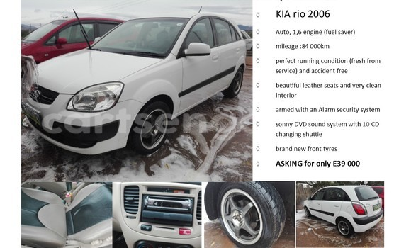 Buy Used Kia Carens White Car in Manzini in Swaziland