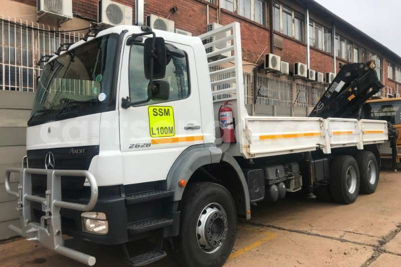 Big with watermark mercedes benz truck crane truck 2628 axor 6x4 d side crane truck hiab 322ep 2 2008 id 62790539 type main