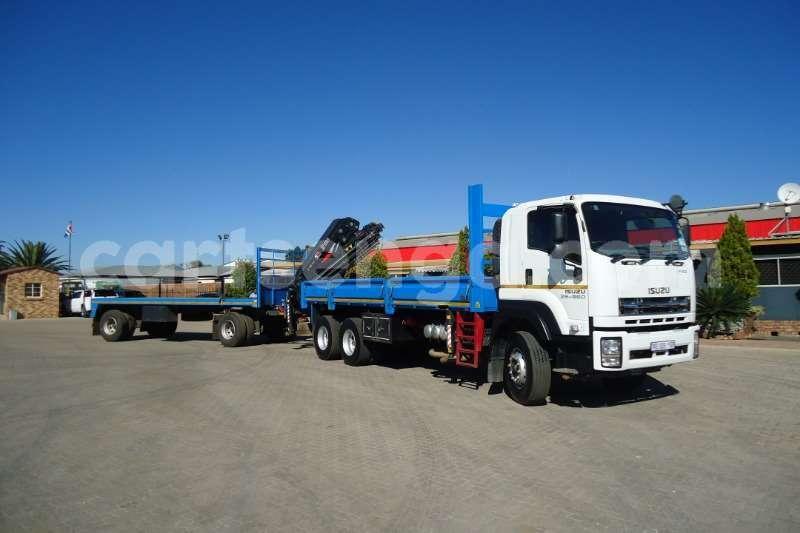 Big with watermark isuzu truck crane truck isuzu fx 26 360 with crane and 10t drawbar trailer 2017 id 63091654 type main