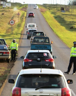 Thumb swaziland police at work